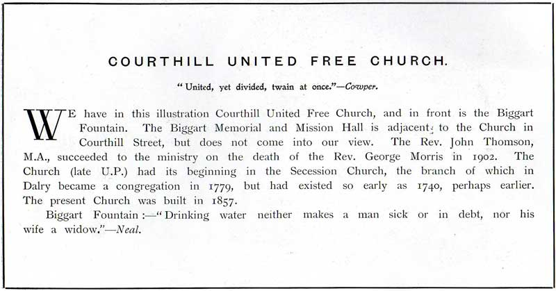 Courthill United Free Church