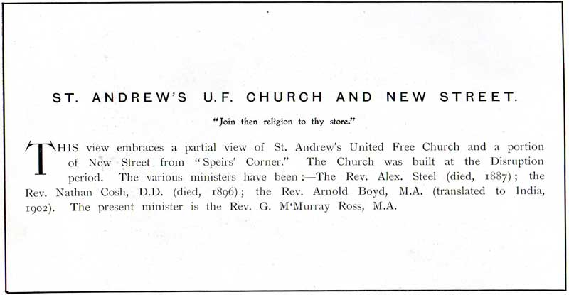 St Andrew's U F Church